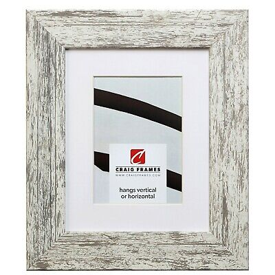 741605 16x24 Faux White Barnwood Picture Frame Matted to Dis