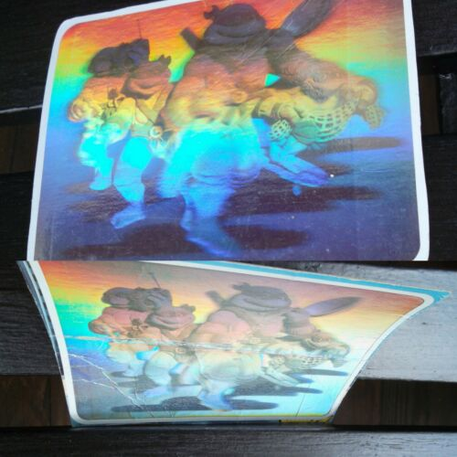Vintage 1989 Ralston Teenage Mutant Ninja Turtles Cereal Box Hologram 2Holograms