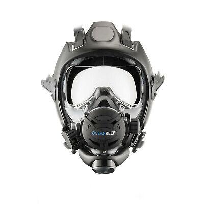 как выглядит Ocean Reef Space Extender Divers Full Face Diving Mask Medium/Large Black фото
