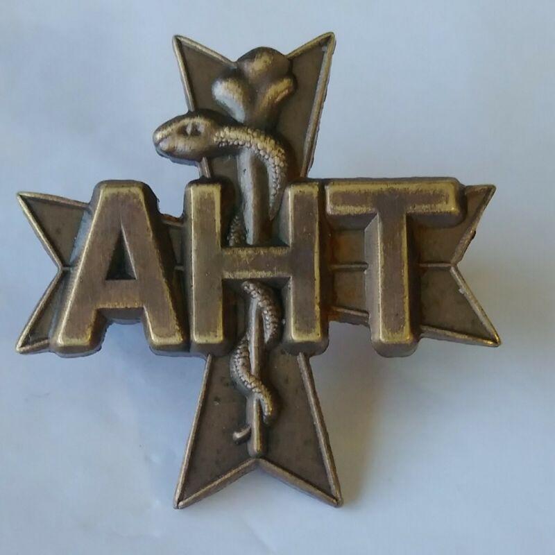 Animal Health Technician Lapel Hat Jacket Pin Veterinary Tech Pin Back