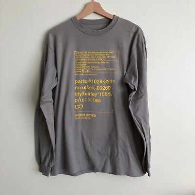 UNDERCOVER by Jun Takahashi A/W 1998-99 'Exchange' Barley Graphic Tee Size Large