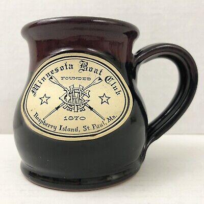 Mn Cup - Deneen Pottery Minnesota Boat Club Raspberry Island St. Paul MN Belly Mug Cup