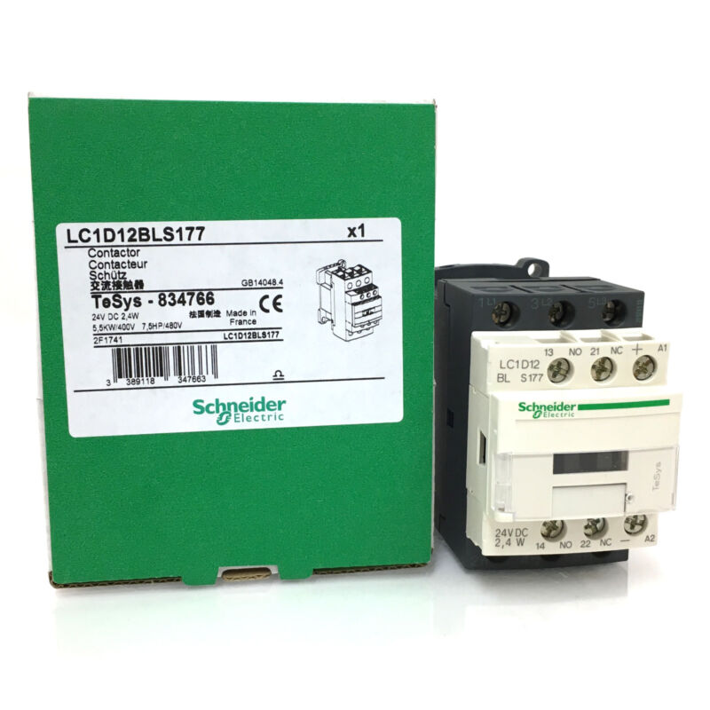 Telemecanique LC1D12JL contacteur 12 V DC 2.4 W 5.5KW//400V 7.5HP//480V