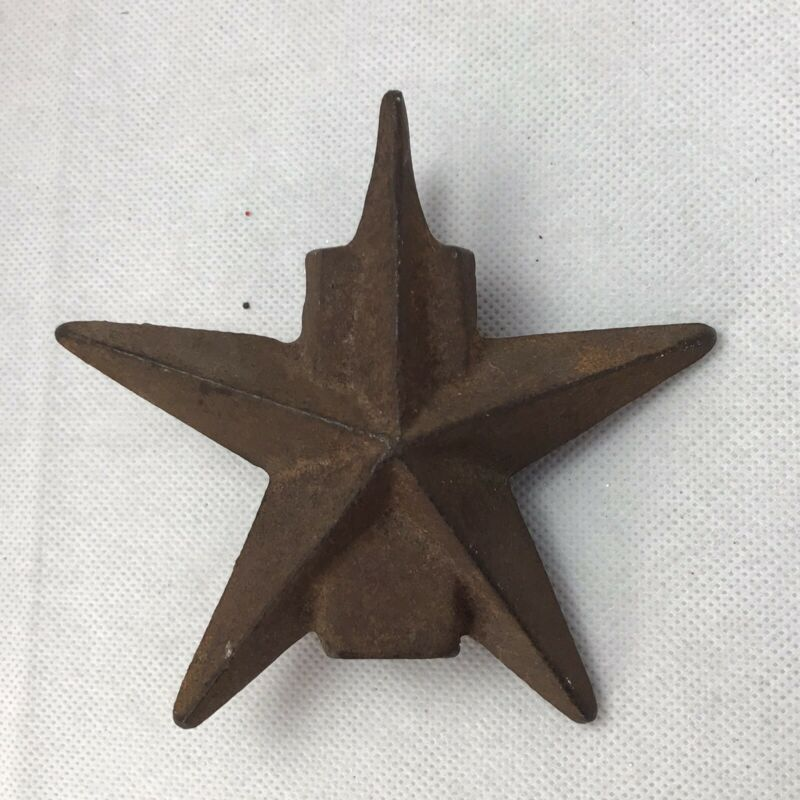 """VTG Fence Topper STARTexas cast iron topper 4.75"""" square end 18oz RUSTY"""