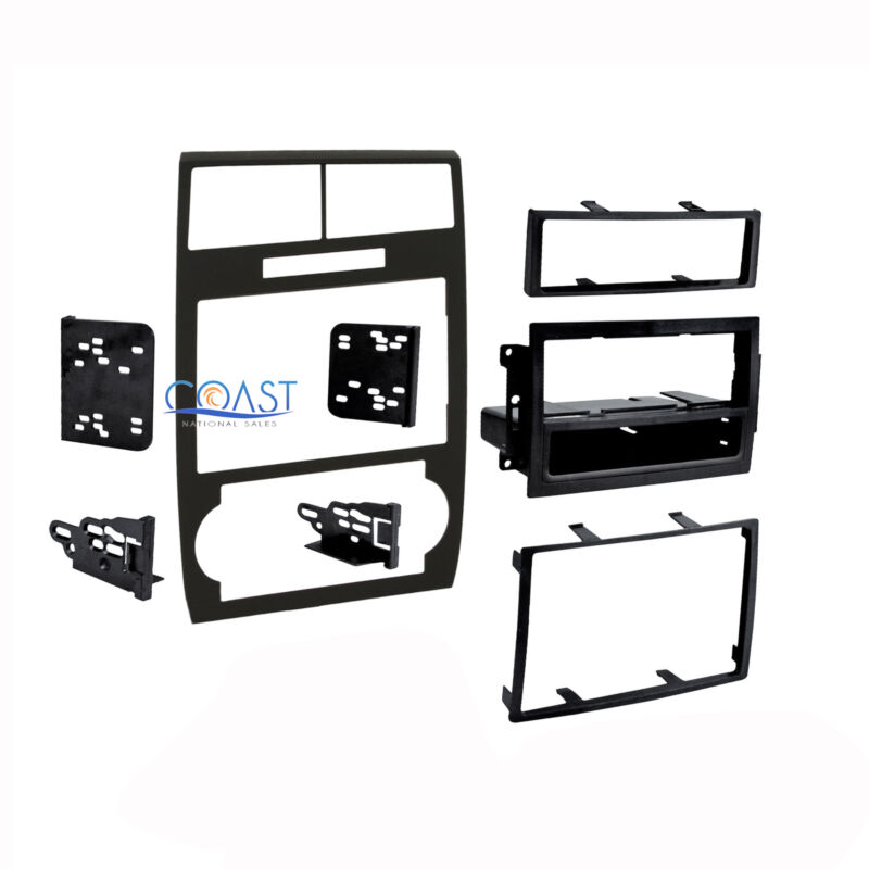Car Radio Stereo Double Din Black Dash Kit for 2005-2007 Dodge Magnum Charger