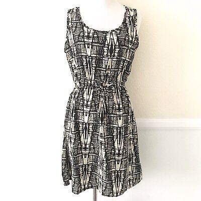 Indulge Go Go Apparels Womens Sleeveless Dress Size MEDIUM Black Cream - Gogo Apparel