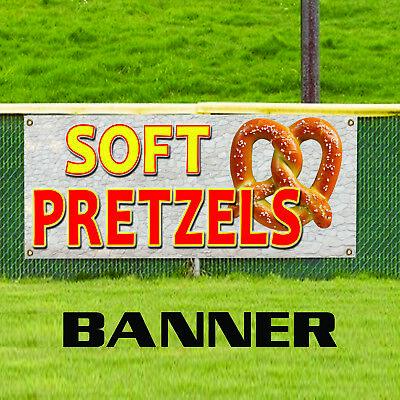 Soft Pretzels Salted Baked Hot Dog Cheese Advertising Vinyl Banner Sign