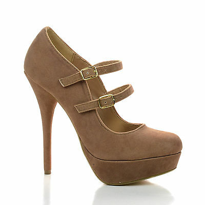 Stephy Mary Jane Dress Pump Close Toe Double Strap Women Office Shoes New - Double Strap Mary Jane