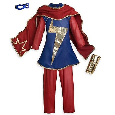 Disney Store Ms. Marvel Costume for Kids Halloween Girls Dress Up Super Hero - Superhero Halloween Costumes For Kids