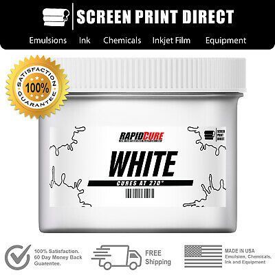 White - Screen Printing Plastisol Ink - Low Temp Cure 270f - 1 Quart