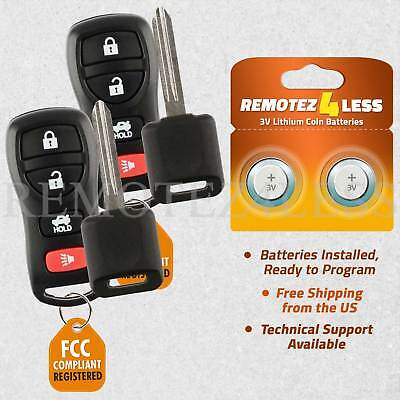 2 for 2004 2005 2006 2007 2008 2009 Nissan Quest Keyless Entry Remote Car Key