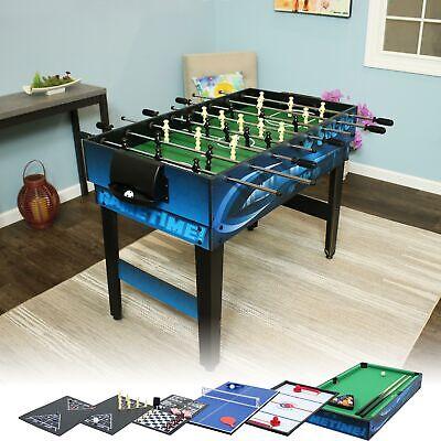 Sunnydaze Multi-Game 10-in-1 Game Table - Billiards Foosball