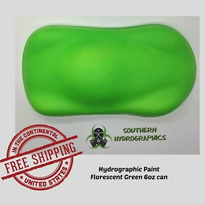 Hydrographic Film Hydro Dip Kit Paint Base Coat 6oz Aerosol Hh Florescent Green
