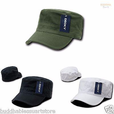 1 Dozen Decky Flex Cadet  Flat Top Cotton Military Army Caps Hats Wholesale Lot - Wholesale Top Hats