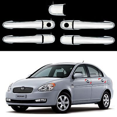 Chrome Door Handle Molding Trim Cover for 05-10 Accent Brio 4DR 3DR