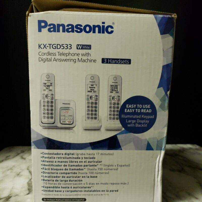 PANASONIC Expandable Cordless Phone System with Answering Machine and Call Block