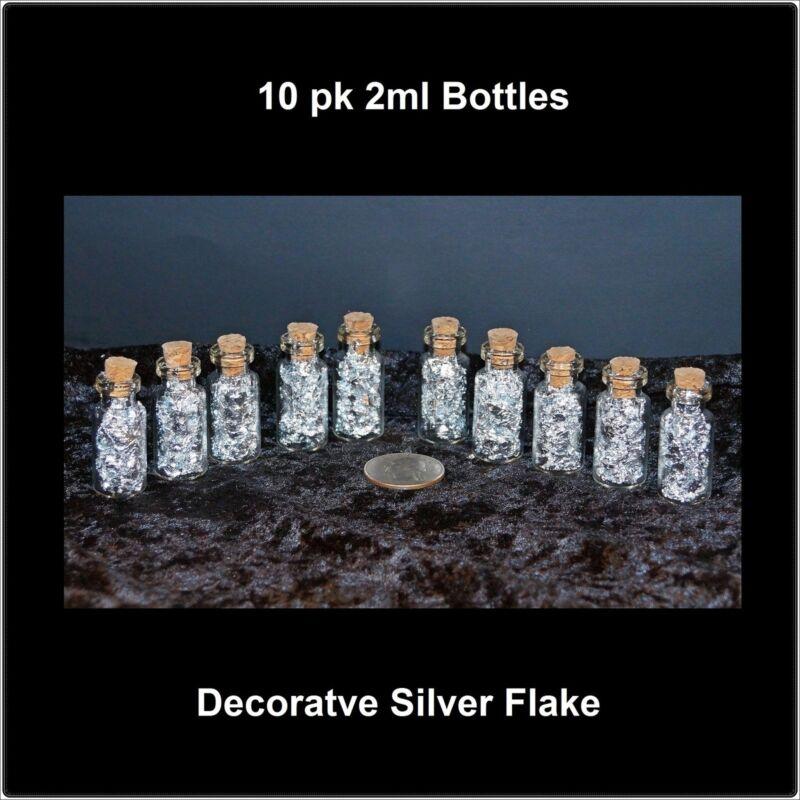 2ml Corked Bottles of Silver Flake - 10 pcs