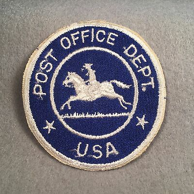Usa Post Office Department Shoulder Patch Blue   White Cut Edge Usps Mint 283O