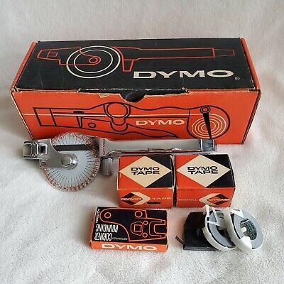 Dymo M-29 Tapewriter Chrome Label Maker Hand Held Embossing Tool Vintage