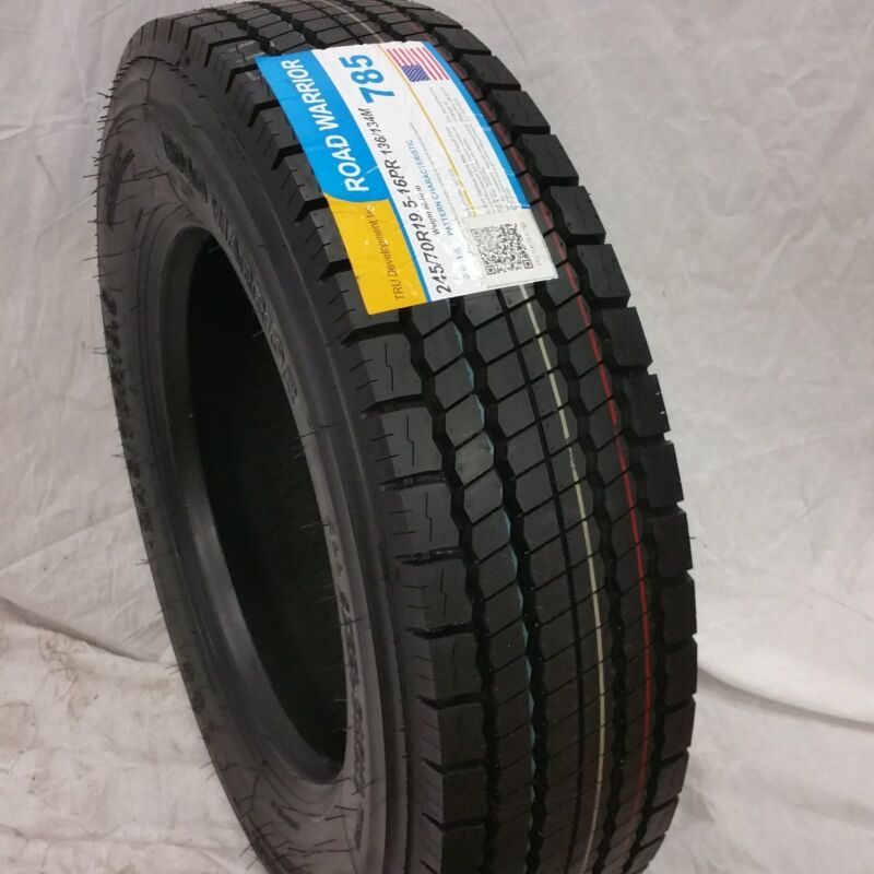 (1-tire) 245/70r19.5 Road Warrior Drive #785 All Position Tires 16 Ply 24570195