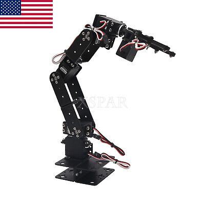 Aluminium Robot 6 Dof Arm Mechanical Robotic Arm Clamp Claw Mount Kit Usa