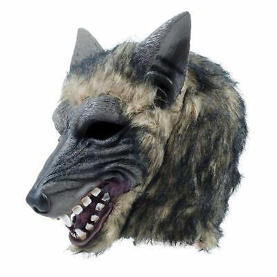 Adults Big Bad Wolf Werewolf Animal Rubber Overhead Mask Halloween Fancy Dress - Bad Wolf Mask