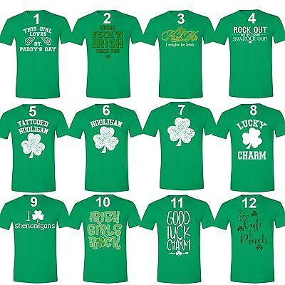 Men's St. Patrick's Day Shamrock Clover Funny Paddy's Irish Unisex T-Shirt - St Patrick's Day Tee Shirts