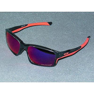 9951ca1da8540 New Oakley Chainlink Sunglasses Grey Smoke Red Iridium POLARIZED USA Chain  Link