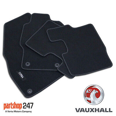 Car Parts - Genuine OE Vauxhall Corsa D/E Tailored Black Velour Front/Rear Carpet Floor Mats