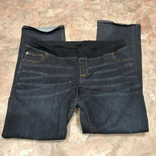 """Liz Lange Maternity plus sz 16 Denim Jeans Under Belly medium wash 32"""" inseam"""