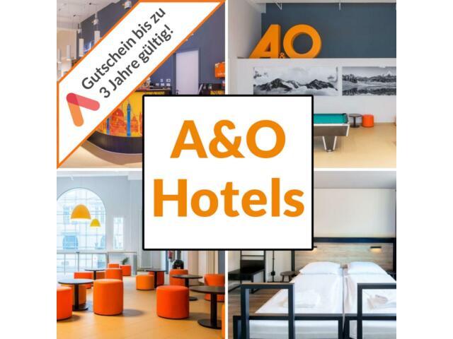 30 A&O Wahl Hotels 20 Städte Gutschein für 2 Personen Frühstück plus 2 Kinder