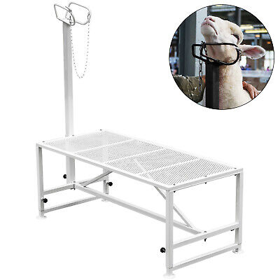 Livestock Trimming Stand 51x23 Inches Livestock Stands For Goats With Headpiece