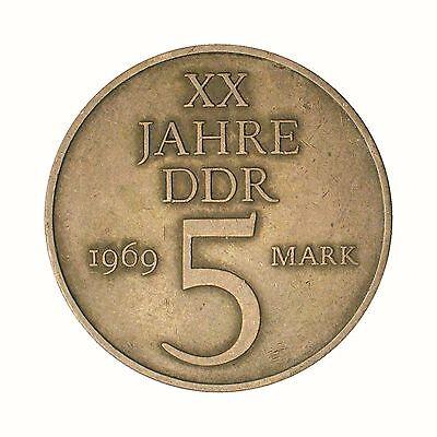 Gedenkmünze DDR 5 Mark 20 Jahre DDR 1969 J.1524