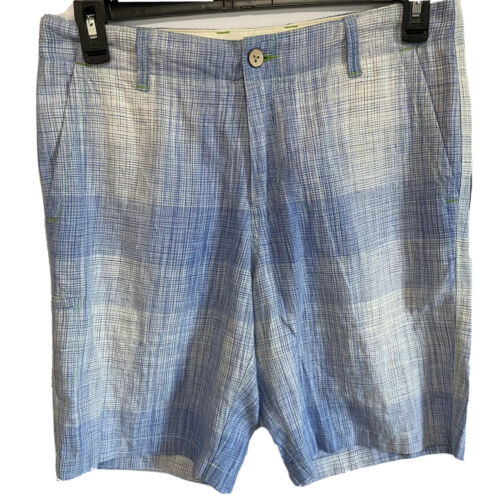 $98 Tommy Bahama Mens Orinoco Shorts Beachcomber Blue size 30 Linen Golf Clothing, Shoes & Accessories