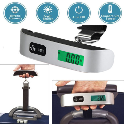 50kg/10g Portable LCD Digital Luggage Scale Fish Hanging Weight Electronic Hook