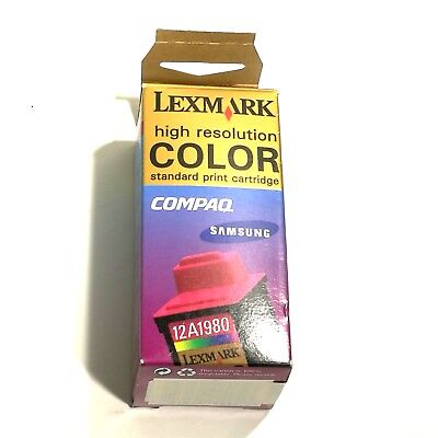 12a1980 Lexmark Cartridge - Lexmark 12A1980 Color High Resolution Ink Cartridge NEW