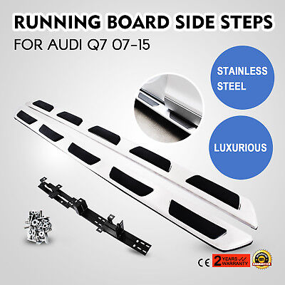 For 07-15 AUDI Q7 Premium STAINLESS STEEL Running Boards Rail Side Step CE
