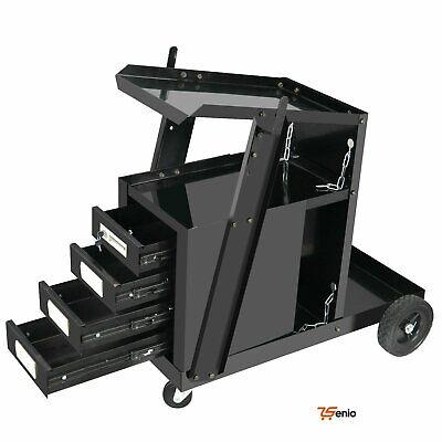 Welding Welder Cart Plasma Cutter Tank Storage With 4 Drawer Cabinet - Rsenio