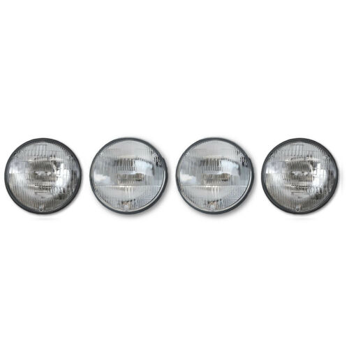 "5-3/4"" 5.75 Sealed Beam Halogen Glass Hi & Low Headlight Headlamp Bulbs Set 4"
