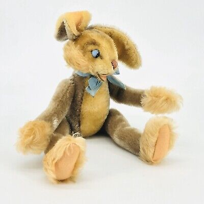 Steiff Lulac Toy Rabbit with Articulating Limbs & Head Vintage Germany 1960's