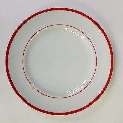 WILLIAMS SONOMA Set of 4 Brasserie White Red Bistro 10.75