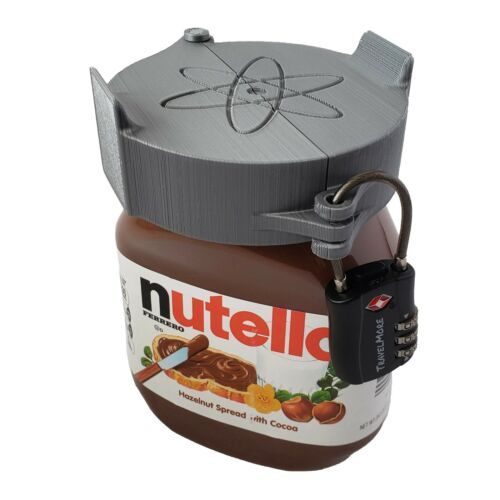 Large Nutella Lock - Lock for Nutella Hazelnut Spread (Improved Design)