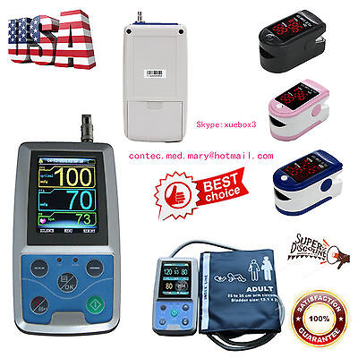 Nibp Monitor 24hour Ambulatory Blood Pressure Holter Abpm50softwareoximeterus