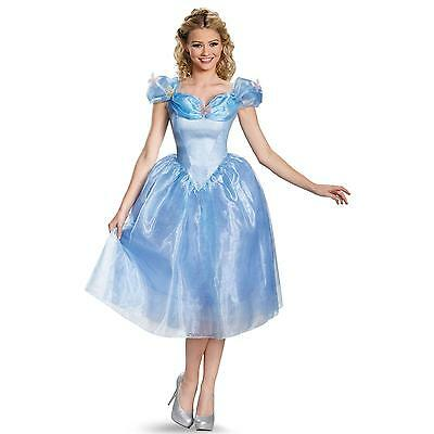 Disney Princess Adult Cinderella Costume Dress Deluxe Halloween Cosplay Women's  - Cinderella Costumes For Women
