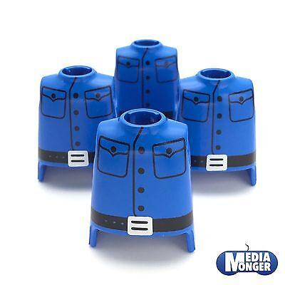 playmobil® Western 4 x Oberkörper blau   schwarz   Uniform   Soldat   Garde
