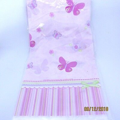 2007 Amscan Plastic Tablecover Carters Baby Girl 579124 Pink Green