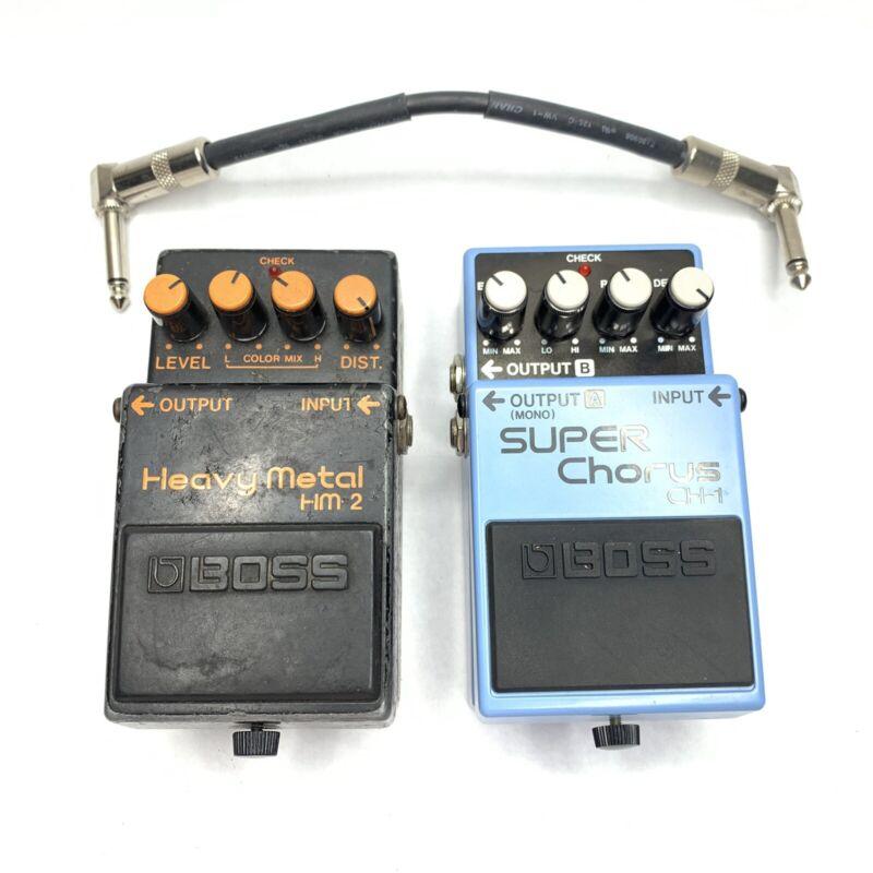 BOSS HM-2 Heavy Metal Guitar Effects Pedal MIJ Japan + Super Chorus CH-1 READ