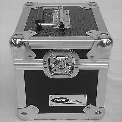 "1 X NEO Aluminium Black Storage DJ Case for 100 Vinyl Records 7"""