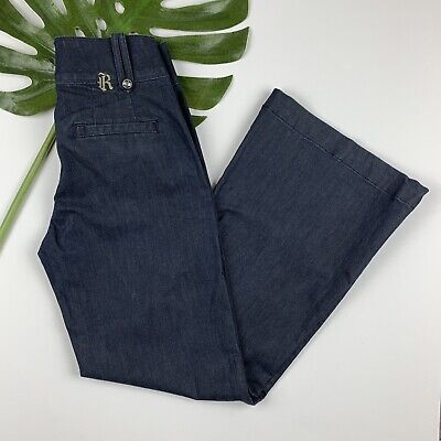 Skinny Wide Leg Jeans (Rich & Skinny Wide Leg Jeans Womens Size 29 Godiva Dark Blue (29 x 30))