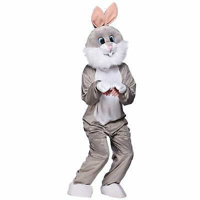 Grey Bunny Rabbit Full Body Mascot Charity Sports Halloween Fancy Dress Costume